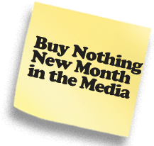 Buy Nothing New Month in the Media